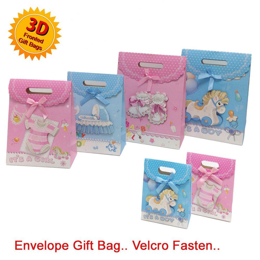 Baby Gift Sack : Envelope baby gift bag bow