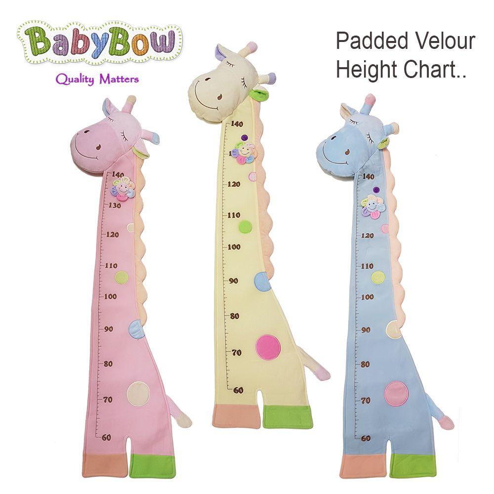 Soft Giraffe Height Chart Baby Bow
